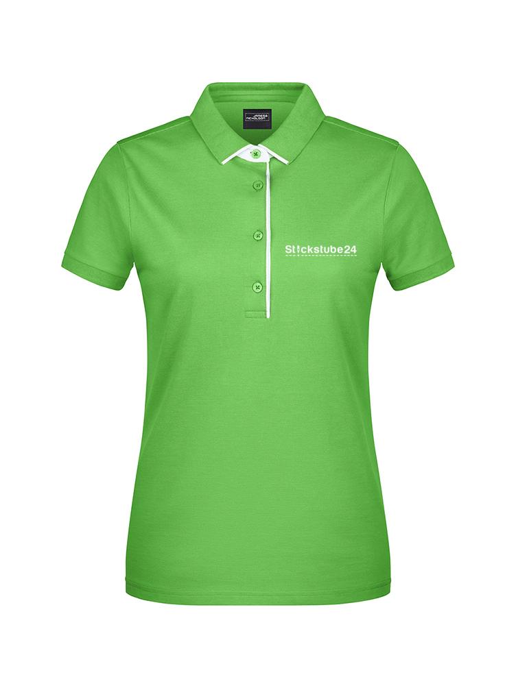 grünes Damen-Polo bestickt