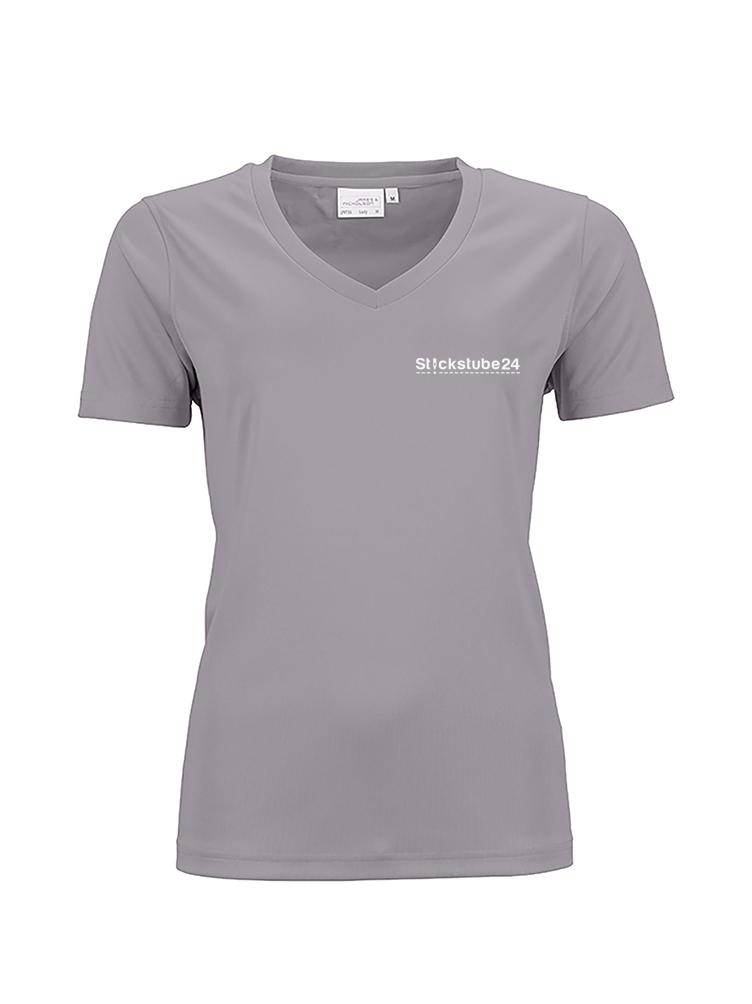 Frauen-T-Shirt V mit Logo