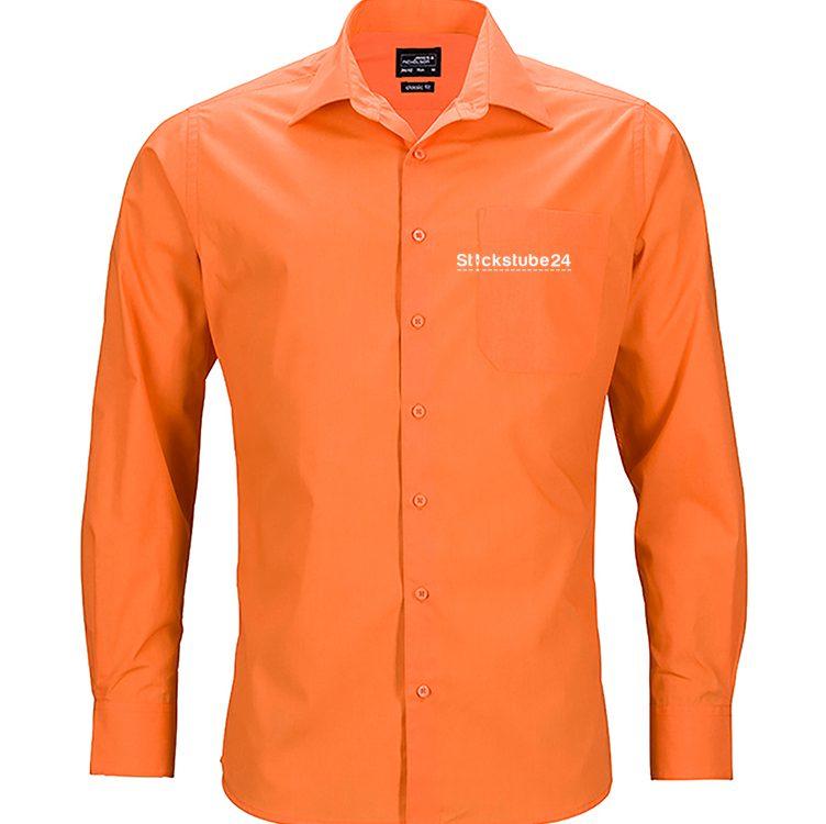 Hemd orange mit Logo
