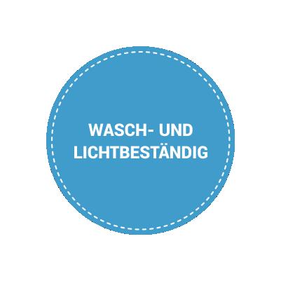 Wasch- und Lichtbeständig
